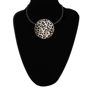 Leopard Metallic Pendant